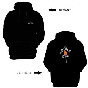 l-entourloop-sweat-capuche-burn-dem-down-avant-arriere